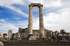 Ναός απόλλωνα Didyma, Τουρκία Στοκ φωτογραφία με δικαίωμα ελεύθερης χρήσης
