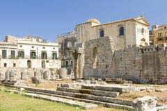 Ναός απόλλωνα στις Συρακούσες στοκ εικόνα με δικαίωμα ελεύθερης χρήσης