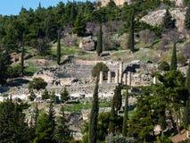 Ναός απόλλωνα στο χρησμό Δελφοί, Ελλάδα Στοκ Φωτογραφία