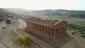 Ναός αρχαίου Έλληνα Concordia VVI αιώνας Π.Χ., κοιλάδα των ναών, Agrigento, Σικελία φιλμ μικρού μήκους