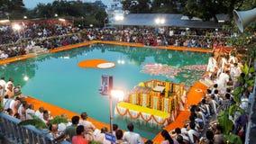 Ναός Βαγκαλόρη ISKCON στοκ εικόνες με δικαίωμα ελεύθερης χρήσης