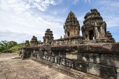 Ναός βουνών Bakong - ομάδα Roluos σε Angkor - Καμπότζη Στοκ Φωτογραφία