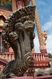 ναός γλυπτών naga της Καμπότζης Στοκ εικόνες με δικαίωμα ελεύθερης χρήσης