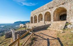 Ναός Δία Anxur σε Terracina, επαρχία του Λατίνα, Λάτσιο, κεντρική Ιταλία στοκ εικόνες