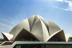 Ναός Δελχί Lotus Στοκ Εικόνες