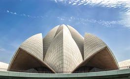 Ναός Δελχί Lotus Στοκ Φωτογραφίες