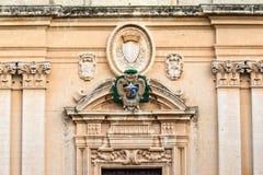 Ναός-είσοδος του ST Paul, Mdina, Μάλτα Στοκ εικόνα με δικαίωμα ελεύθερης χρήσης