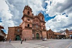 Ναός εκκλησιών της επιχείρησης του Ιησού Cuzco στοκ εικόνες