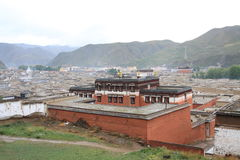 ναός Θιβετιανός της Κίνας labrang Στοκ Φωτογραφία