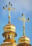 Ναός θόλων Κίεβο-Pechersk Lavra Στοκ φωτογραφίες με δικαίωμα ελεύθερης χρήσης