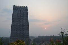 Ναός και άγαλμα Shiva Murudeshwar - ανατολή στοκ εικόνες