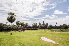 Ναός κατά την άποψη της Καμπότζης Angkor Wat του μετώπου του κτηρίου Στοκ εικόνες με δικαίωμα ελεύθερης χρήσης