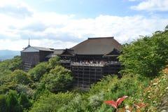 Ναός Κιότο Ιαπωνία kiyomizu-Dera Στοκ φωτογραφία με δικαίωμα ελεύθερης χρήσης