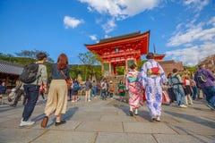 Ναός Κιότο kiyomizu-Dera στοκ φωτογραφία