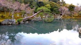 Ναός Κιότο Tenruu-tenruu-ji λιμνών Sogenchi Στοκ Φωτογραφία
