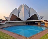 ναός λωτού 2 Δελχί Ινδία Στοκ Εικόνες