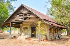 Ναός με την παλαιά ζωγραφική για το νόμο του karma από το έτος 1928 στοκ φωτογραφίες με δικαίωμα ελεύθερης χρήσης