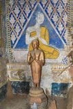 Ναός με την παλαιά ζωγραφική για το νόμο του karma από το έτος 1928 απεικόνιση αποθεμάτων