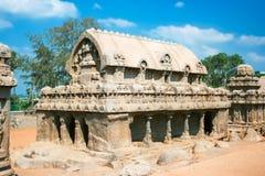 Ναός πέντε Rathas Στοκ Εικόνα