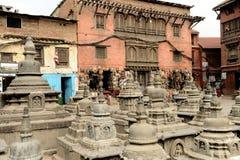 Ναός πιθήκων Swayambhunath, Κατμαντού, Νεπάλ Στοκ Φωτογραφίες