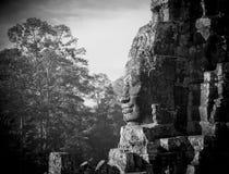 ναός προσώπων της Καμπότζης angkor bayon Στοκ Φωτογραφία