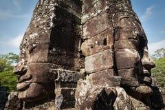 ναός προσώπων της Καμπότζης angkor bayon Στοκ Εικόνα