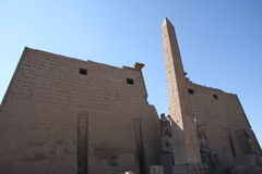 ναός πυλώνων luxor της Αιγύπτο&upsilo Στοκ φωτογραφίες με δικαίωμα ελεύθερης χρήσης