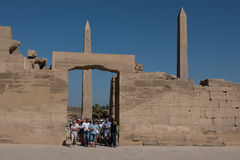 ναός σειράς της Αιγύπτου karnak thebes Στοκ Εικόνες