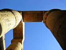 ναός σειράς της Αιγύπτου karnak thebes στοκ φωτογραφία