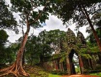 Ναός σε Ankor Wat Στοκ εικόνες με δικαίωμα ελεύθερης χρήσης