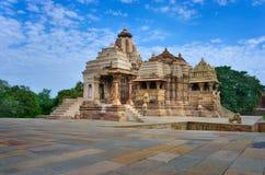 Ναός σε Khajuraho.  Ινδία Στοκ Φωτογραφία