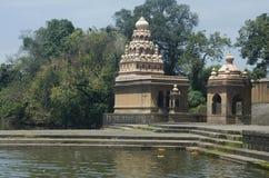 Ναός σε Krishna Ghat, Menavali, Wai, Maharashtra Αυτοί οι ναοί βρίσκονται πίσω από το Phadnis Wada στοκ φωτογραφίες με δικαίωμα ελεύθερης χρήσης