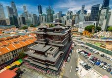 Ναός Σιγκαπούρη λειψάνων δοντιών του Βούδα Στοκ Φωτογραφία