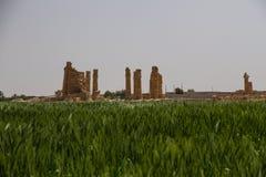 Ναός Σουδάν Soleb από πέρα από έναν τομέα στοκ εικόνες με δικαίωμα ελεύθερης χρήσης