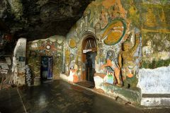 Ναός σπηλιών Guhawa ντιβών σε Ratnapura στη Σρι Λάνκα Στοκ εικόνες με δικαίωμα ελεύθερης χρήσης