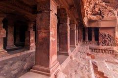 Ναός σπηλιών σε Badami, Κα Στοκ φωτογραφία με δικαίωμα ελεύθερης χρήσης