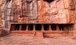 Ναός σπηλιών σε Badami, Κα Στοκ Εικόνες