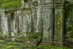 Ναός στην καμποτζιανή ζούγκλα Στοκ Εικόνες