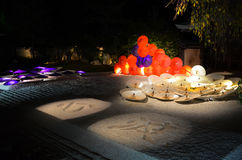 Ναός στο Κιότο Ιαπωνία στη νύχτα στοκ φωτογραφίες με δικαίωμα ελεύθερης χρήσης