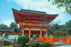 Ναός στο Κιότο με rainny, Ιαπωνία (δημόσια θέση) Στοκ Εικόνα