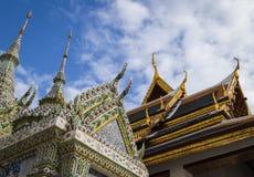 Ναός στο ταϊλανδικό και κινεζικό ύφος στοκ εικόνες