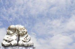 ναός Ταϊλάνδη μοναχών κουκλών παιδιών Στοκ Εικόνες