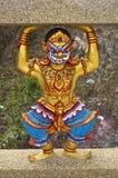 ναός Ταϊλανδός γλυπτών Στοκ εικόνα με δικαίωμα ελεύθερης χρήσης