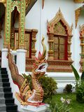 ναός Ταϊλανδός δράκων στοκ φωτογραφία με δικαίωμα ελεύθερης χρήσης