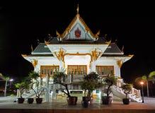 ναός Ταϊλανδός νύχτας Στοκ εικόνες με δικαίωμα ελεύθερης χρήσης