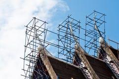ναός Ταϊλανδός υλικών σκα&la Στοκ Φωτογραφία
