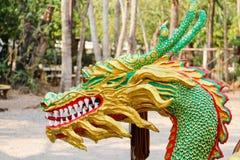 ναός Ταϊλάνδη αγαλμάτων του Σηάν δράκων buri chon Στοκ Φωτογραφία
