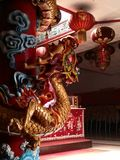 ναός Ταϊλάνδη αγαλμάτων του Σηάν δράκων buri chon Στοκ φωτογραφία με δικαίωμα ελεύθερης χρήσης