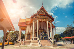 ναός Ταϊλανδός Ναός Patong Wat, Suwankeereewong Phuket, Ταϊλάνδη Στοκ Φωτογραφία