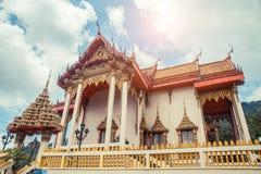 ναός Ταϊλανδός Ναός Patong Wat, Suwankeereewong Phuket, Ταϊλάνδη Στοκ φωτογραφία με δικαίωμα ελεύθερης χρήσης